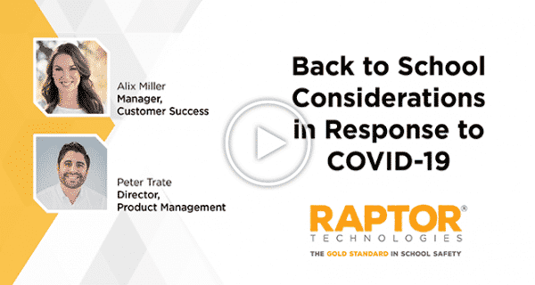 Back to School Considerations in Response to COVID-19